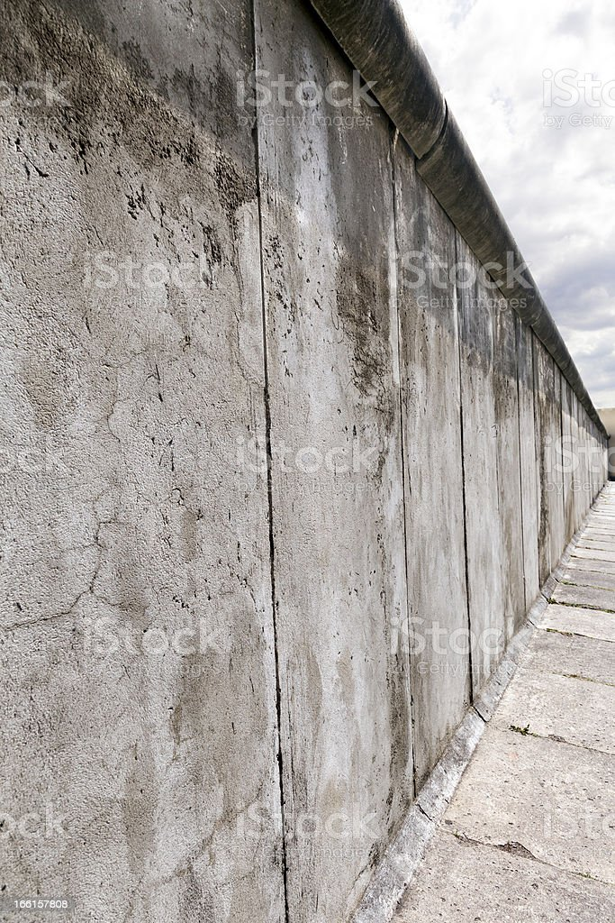 East-West Berlin Original Wall Section royalty-free stock photo