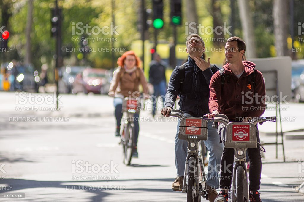 East-west Cycle Superhighway stock photo