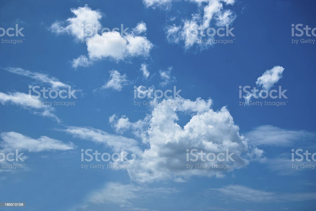 easy breezy cloudscape and blue sky royalty-free stock photo