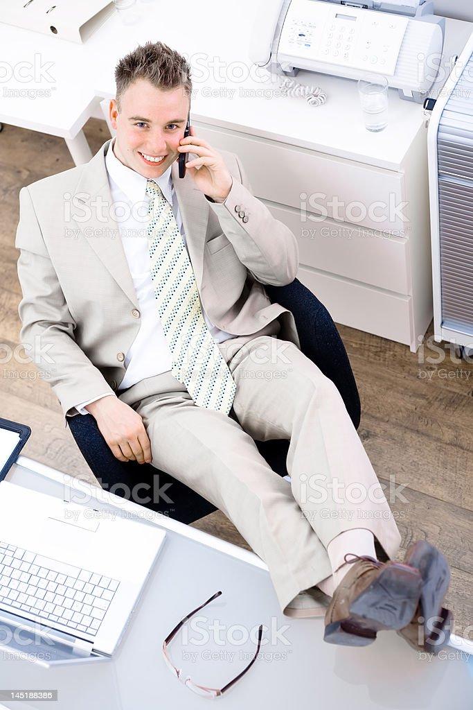 Easy businessman royalty-free stock photo