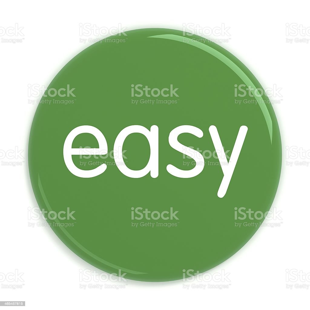 Easy button badge royalty-free stock photo
