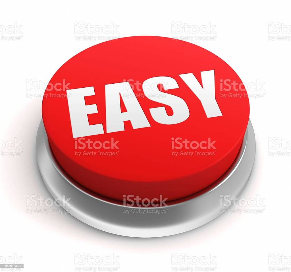 Easy Button stock photo