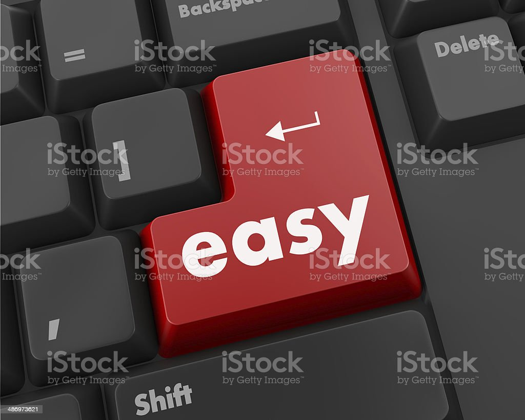 easy button royalty-free stock photo