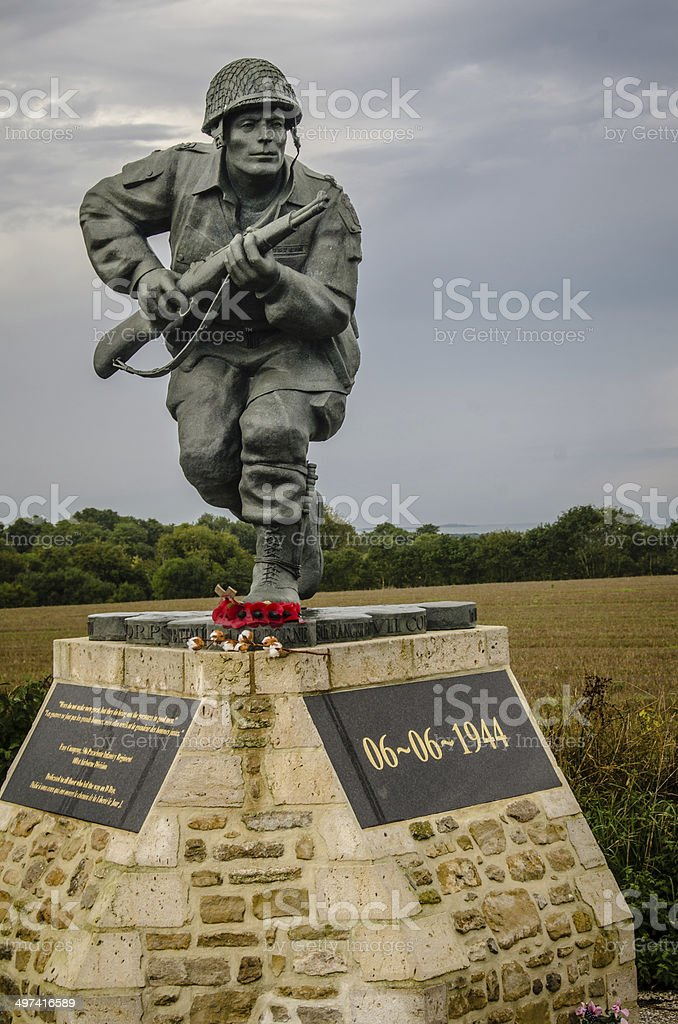 Easy Company Memorial stock photo