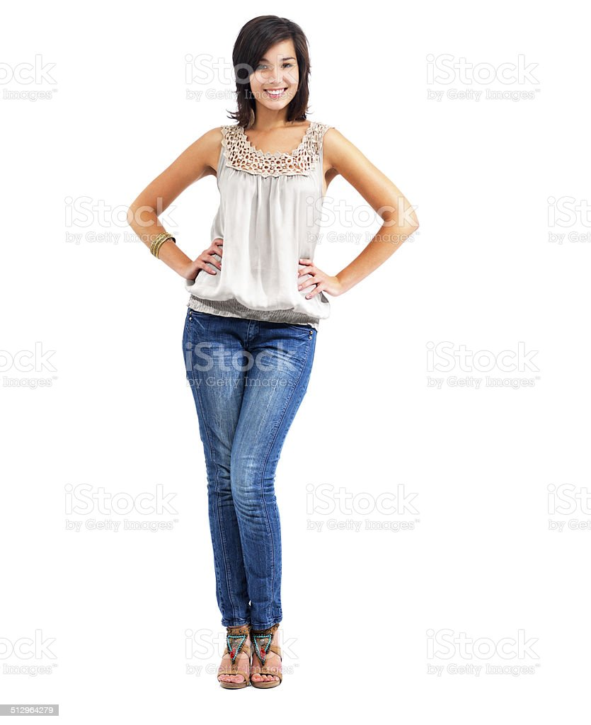 Easy confidence with casual fashion stock photo