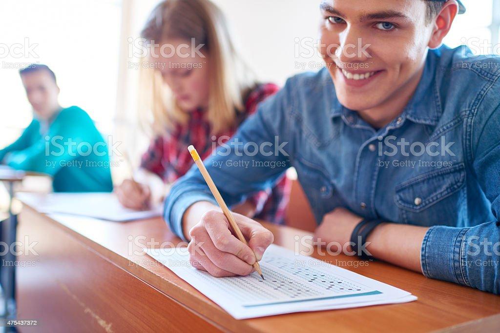 Easy exam stock photo