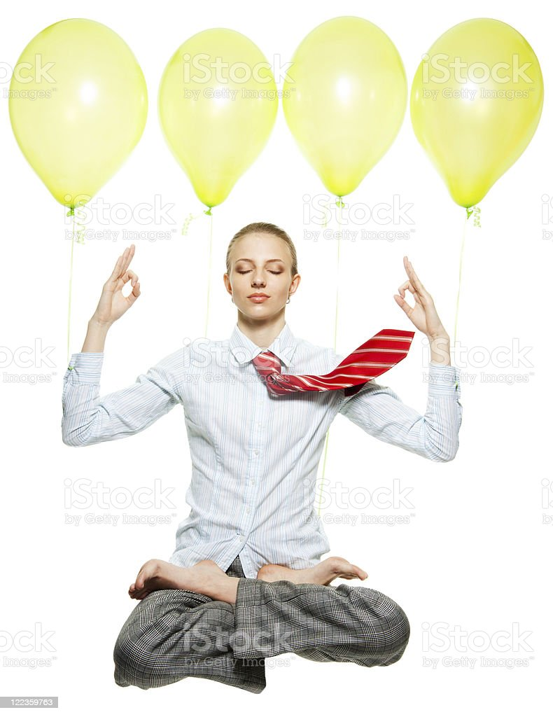 Easy meditation at work royalty-free stock photo