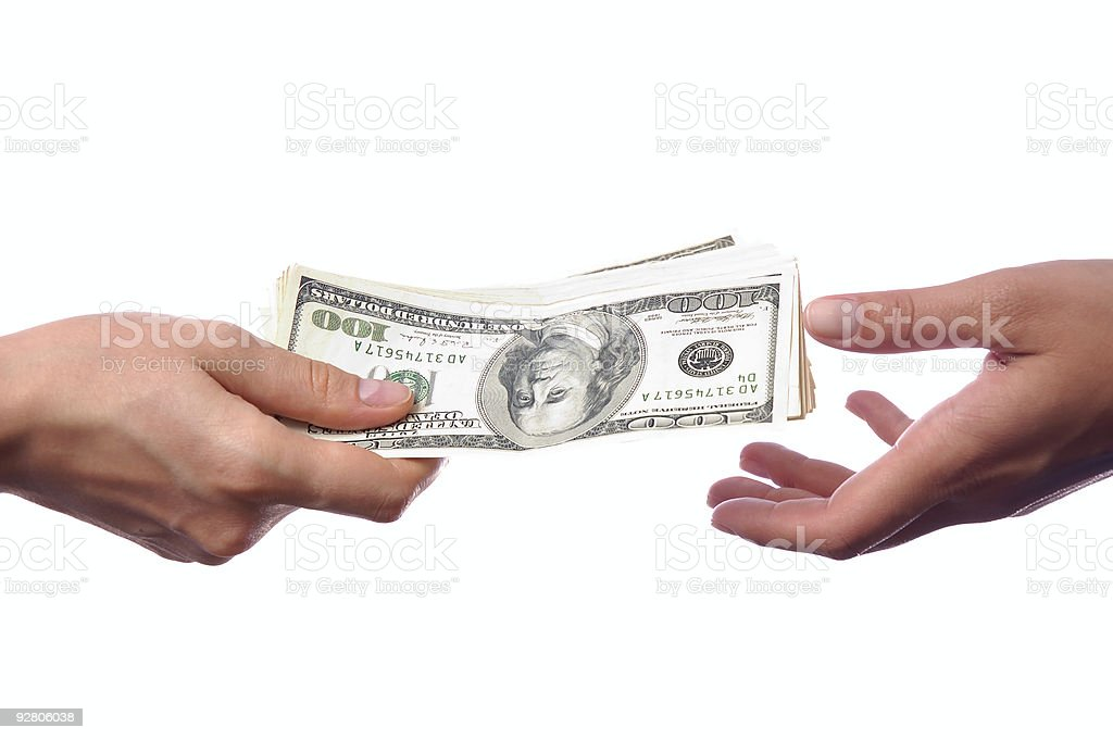 Easy money 24 stock photo