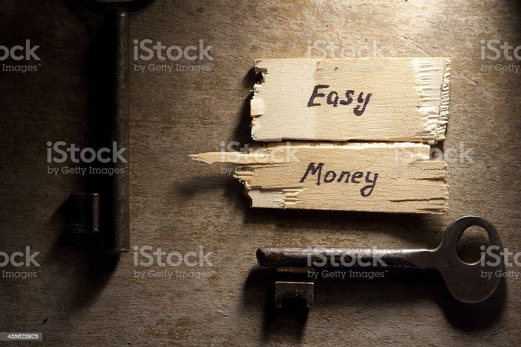 easy money concept stock photo