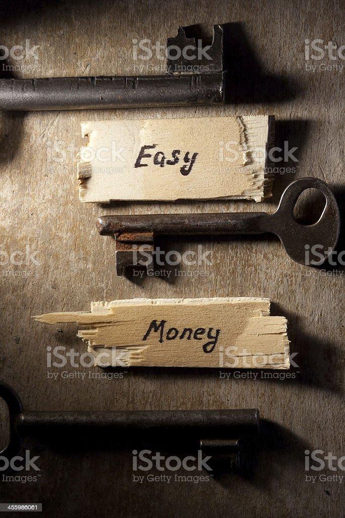 Easy money concept. stock photo