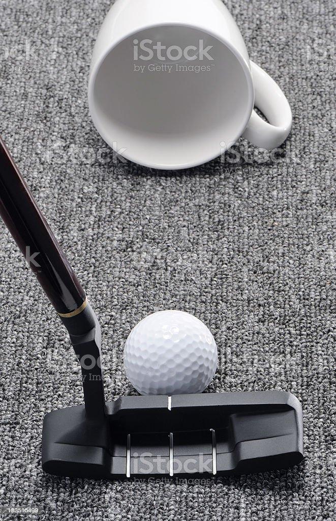 Easy office golf stock photo