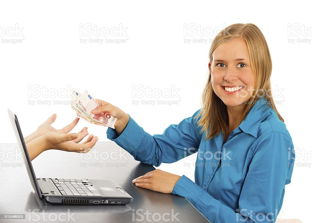 Easy Online Payment stock photo