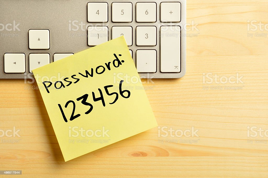 Easy Password (Click for more) stock photo