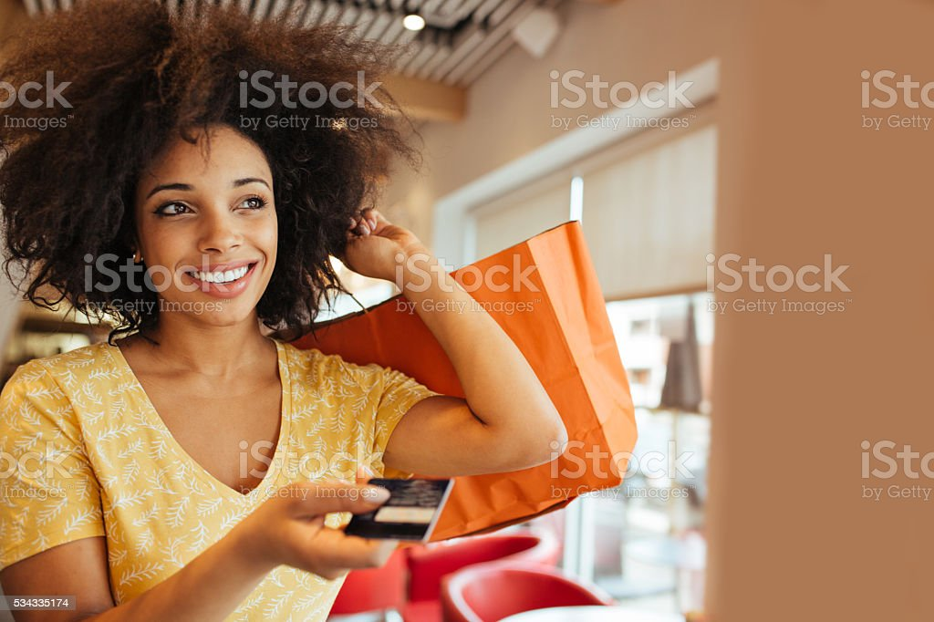 Easy payment stock photo