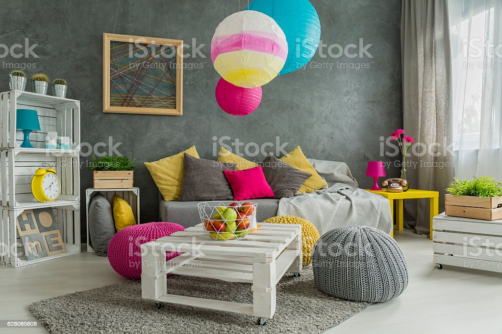 Easy room makeover stock photo