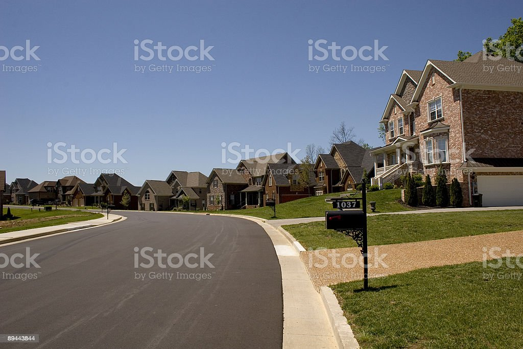 Easy Street - New Homes stock photo