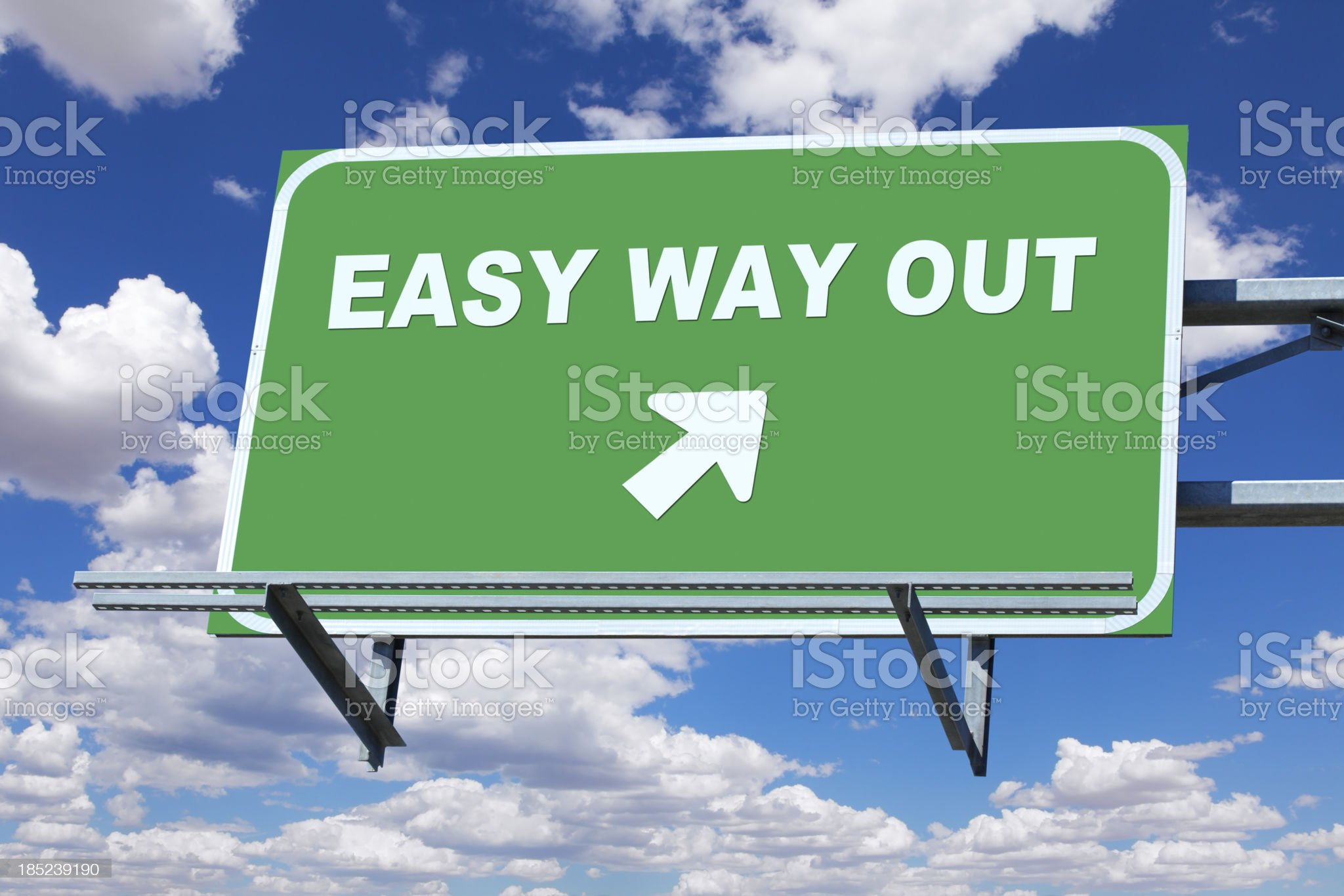 Easy Way Out royalty-free stock photo