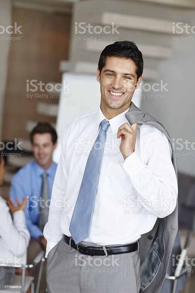 Easy-going businessman royalty-free stock photo