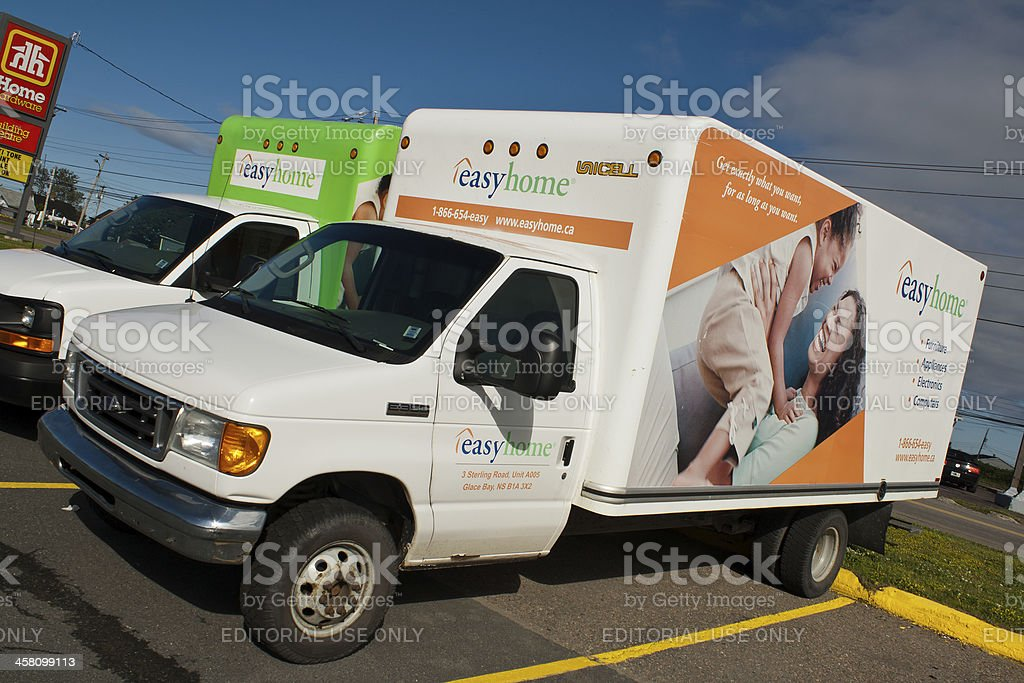 Easyhome Ford and Chevrolet Cube Van Delivery Vehicles stock photo