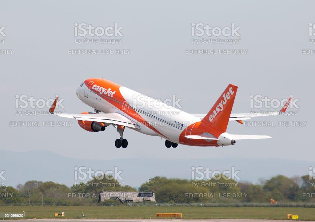 easyJet A320 stock photo