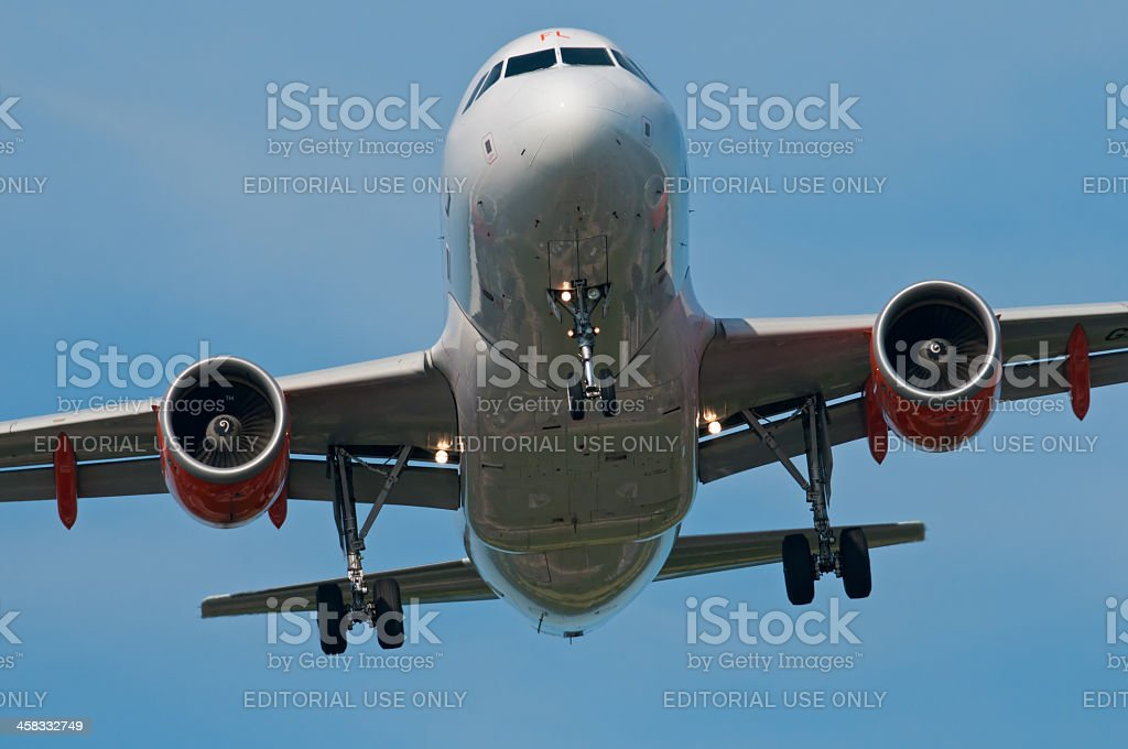 easyjet Airbus A319 royalty-free stock photo