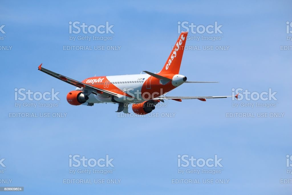 EasyJet Airbus stock photo