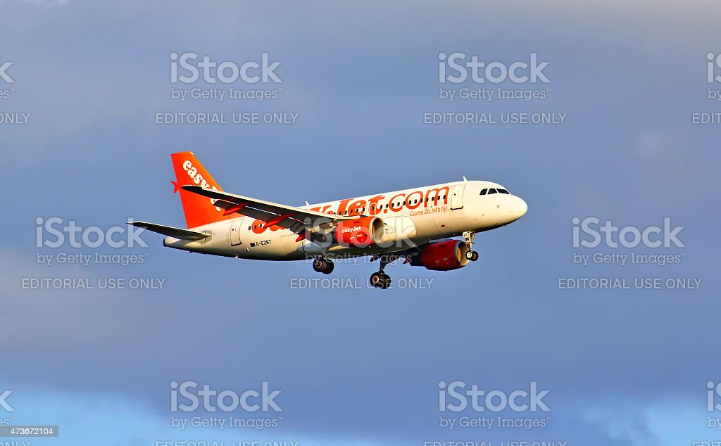 EasyJet Airline Airbus A319 stock photo