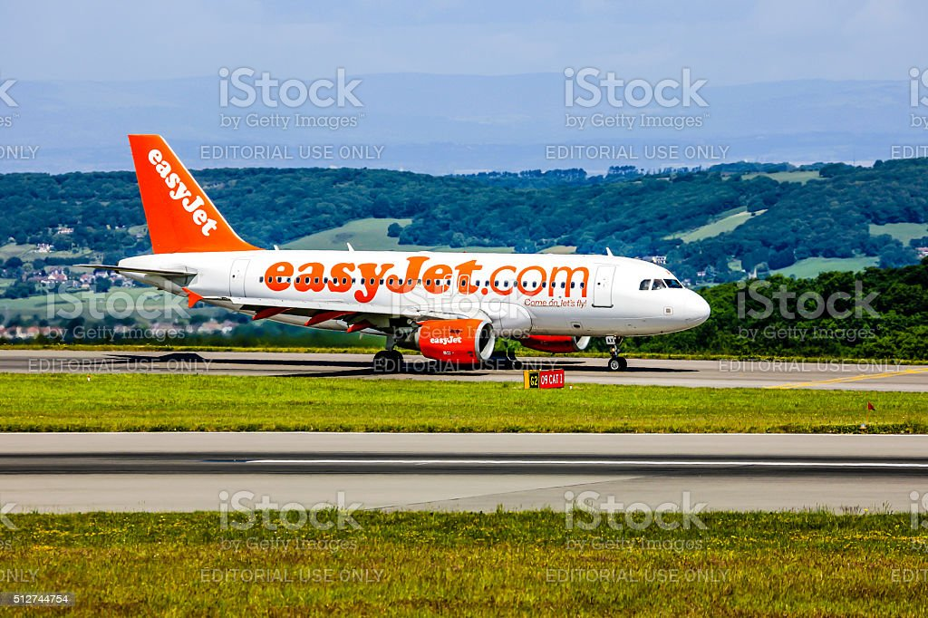 EasyJet Budget Airline Airbus A319 aircraft stock photo
