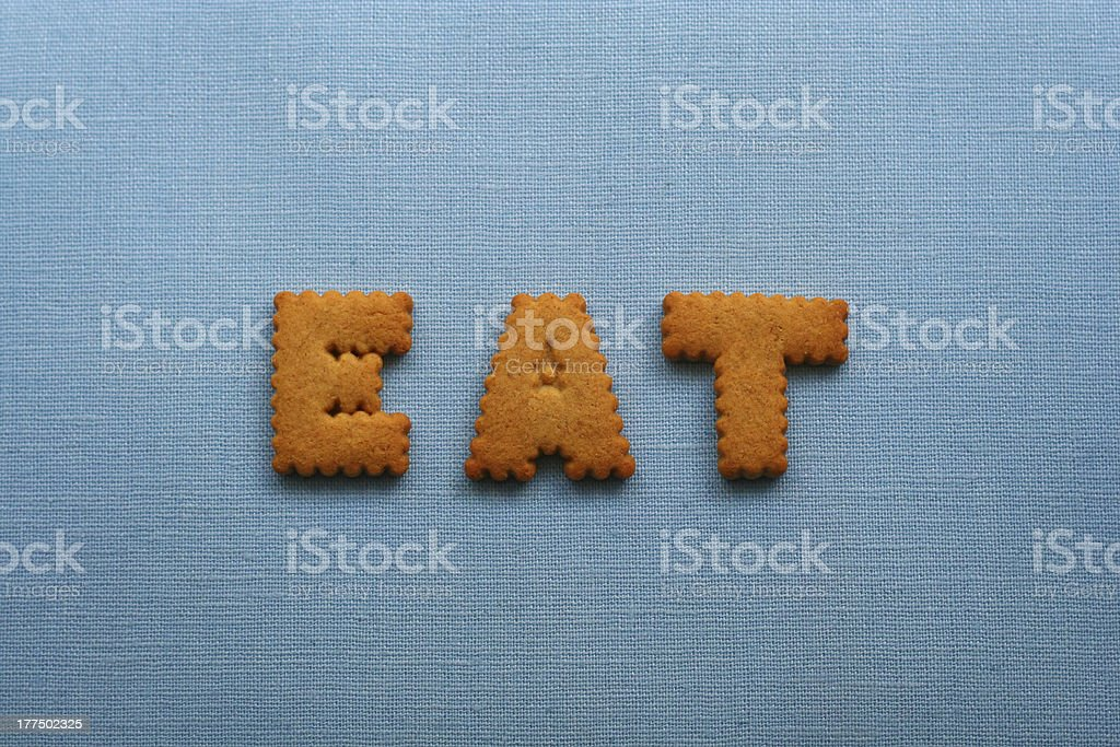 Eat cookies royalty-free stock photo