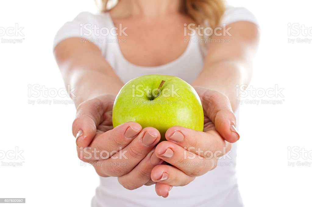 Eat every day an apple stock photo