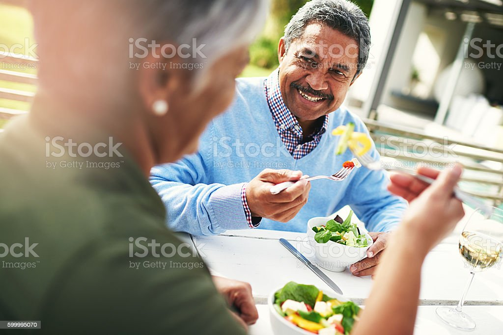 Eat good, feel good stock photo