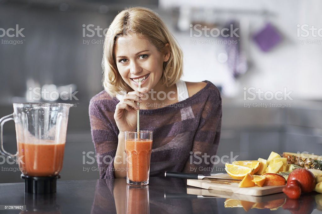 Eat healthy, live happy stock photo