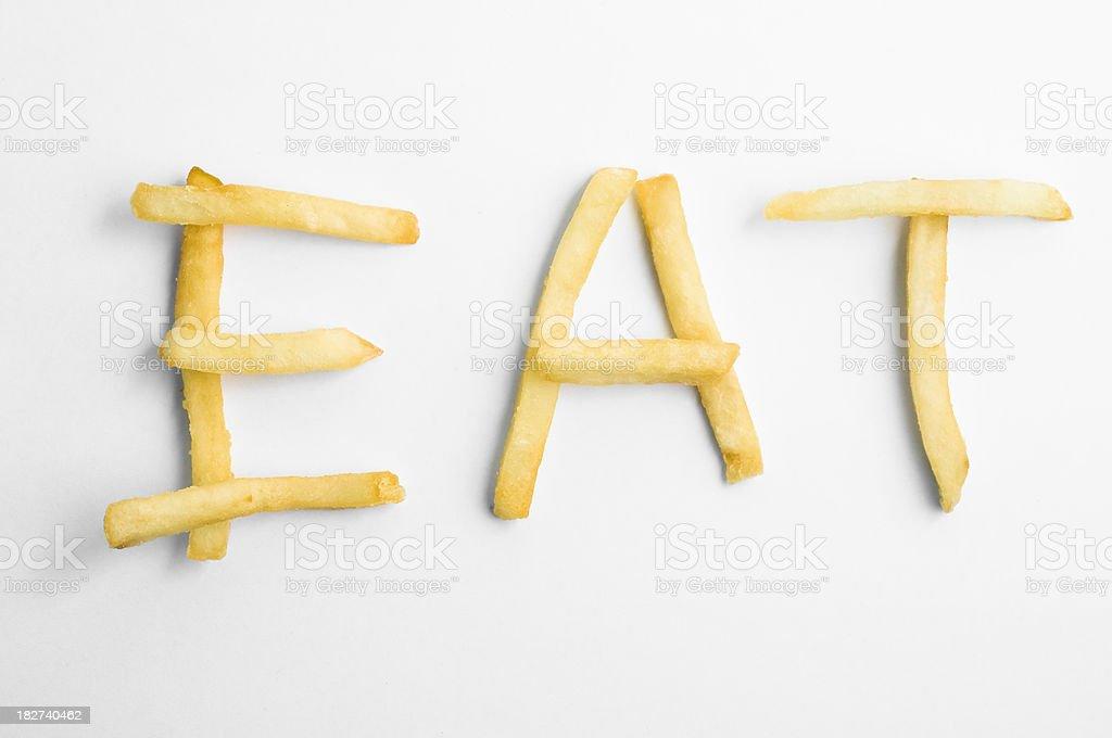 Eat junk food royalty-free stock photo