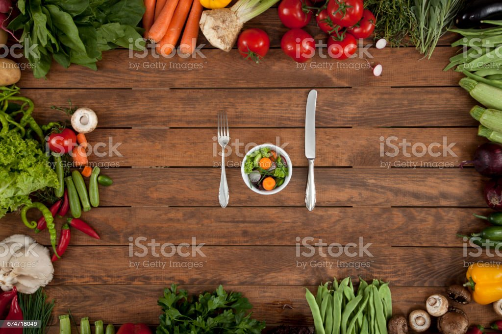 eat less and eat healthy stock photo