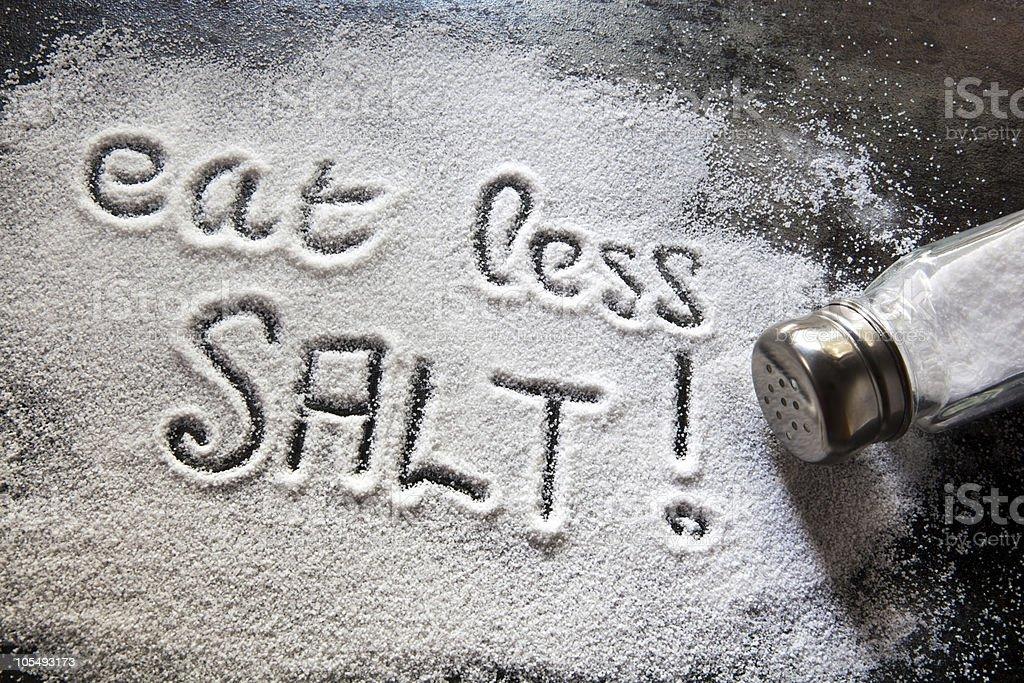 Eat Less Salt stock photo