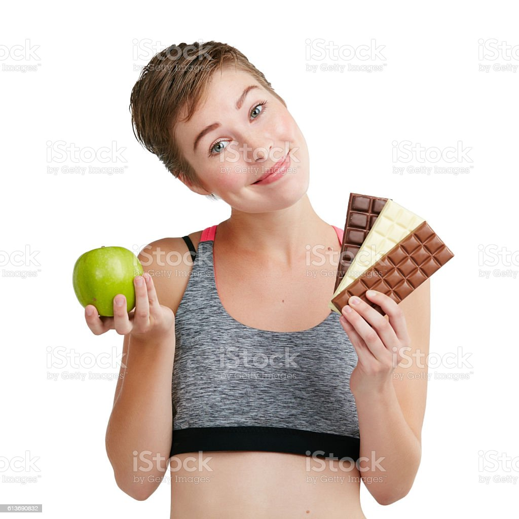 Eat less sugar, you're sweet enough as you are stock photo