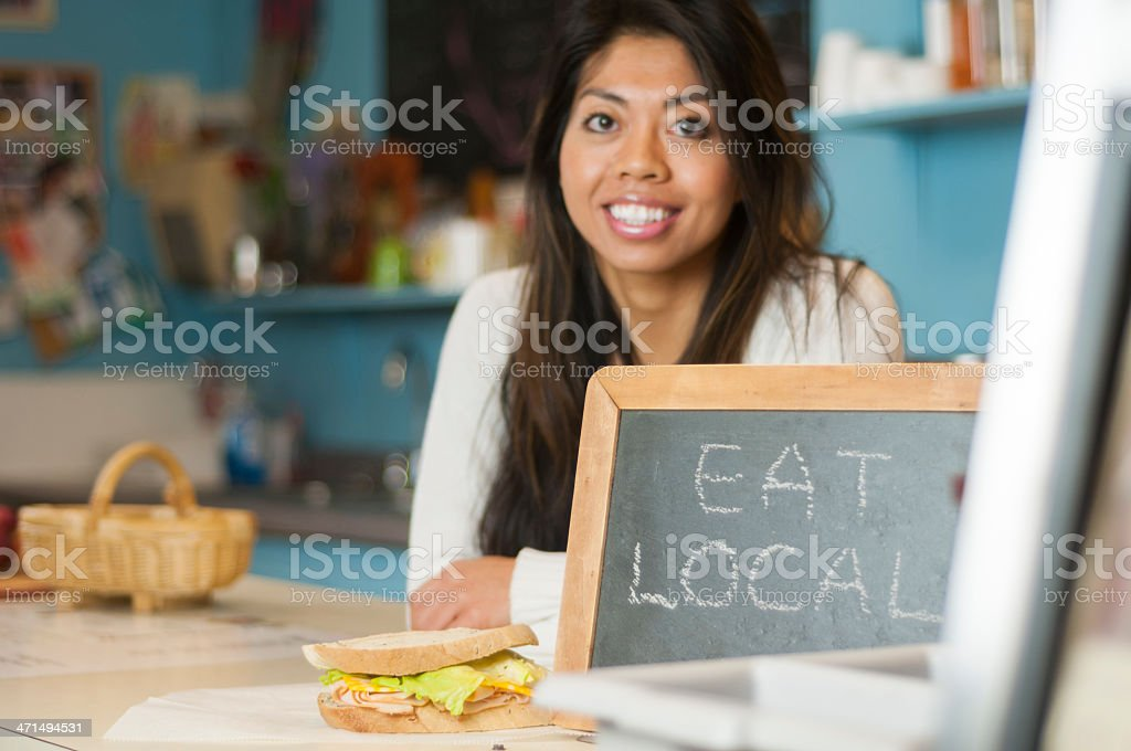 Eat Local royalty-free stock photo