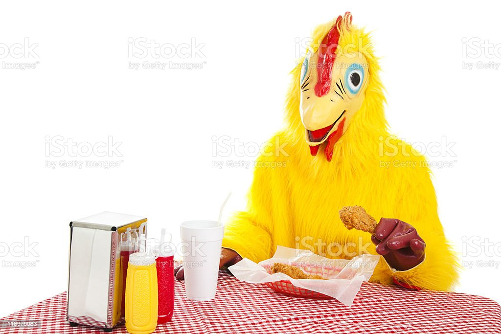 Eat More Chicken royalty-free stock photo