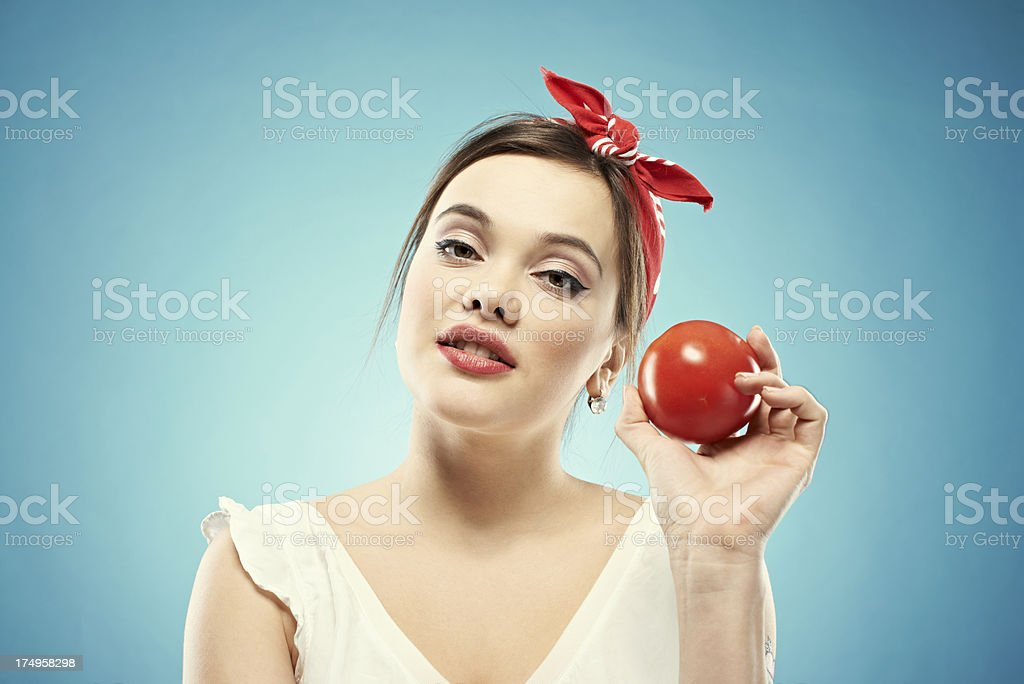 Eat more tomatoes royalty-free stock photo