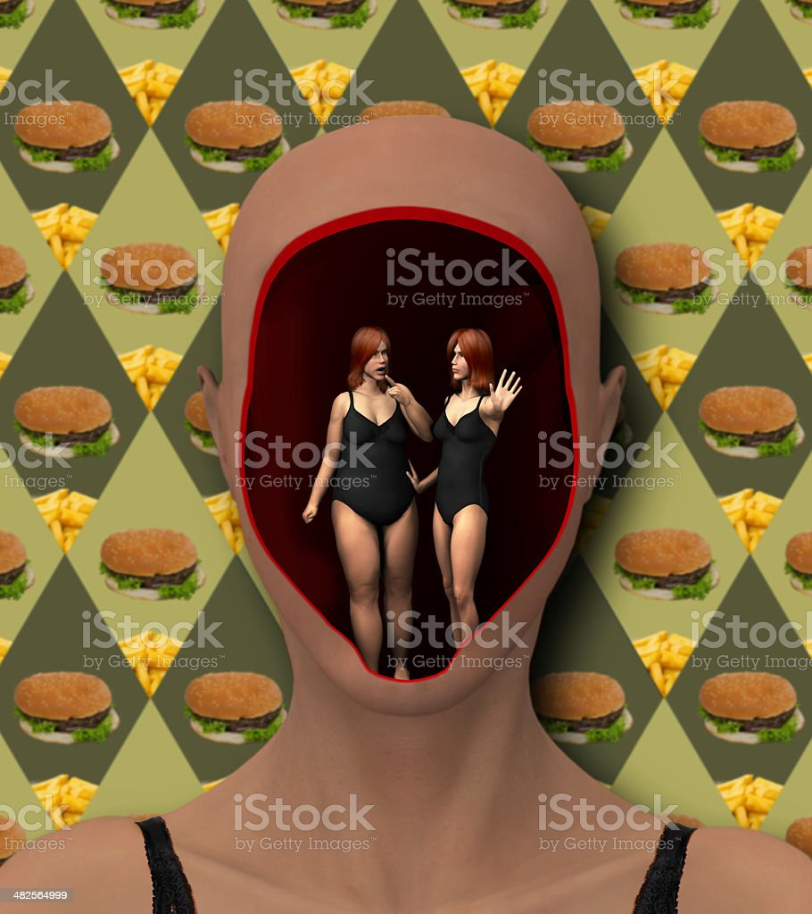 eat or not to eat stock photo