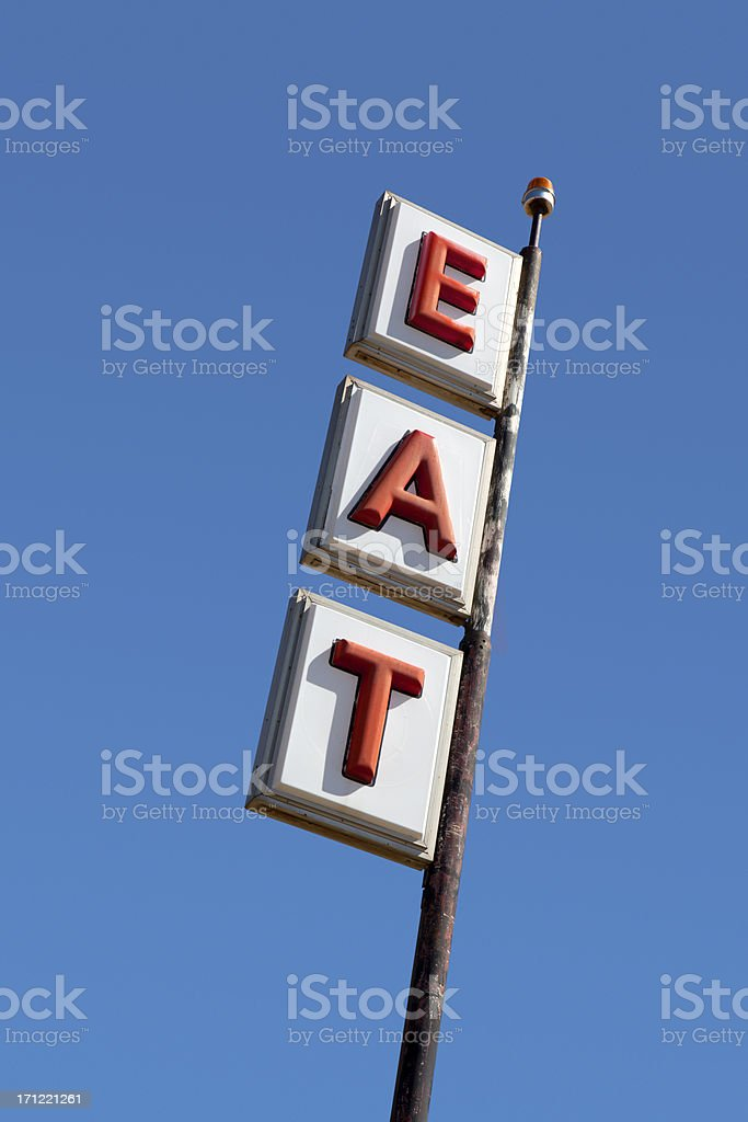 Eat Sign royalty-free stock photo