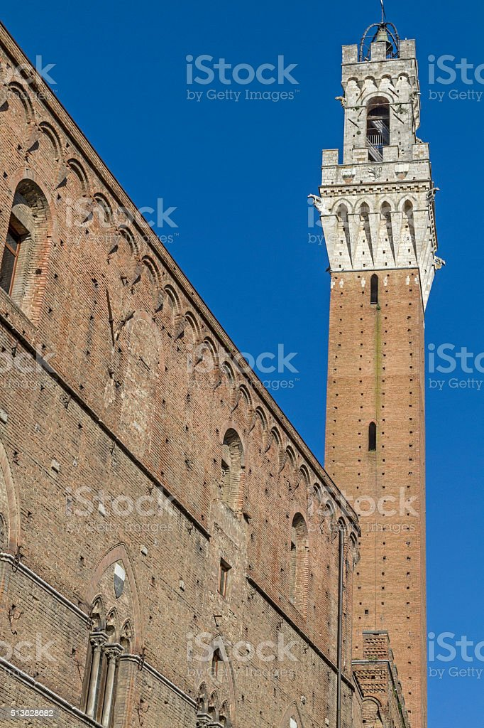 Torre del Mangia stock photo
