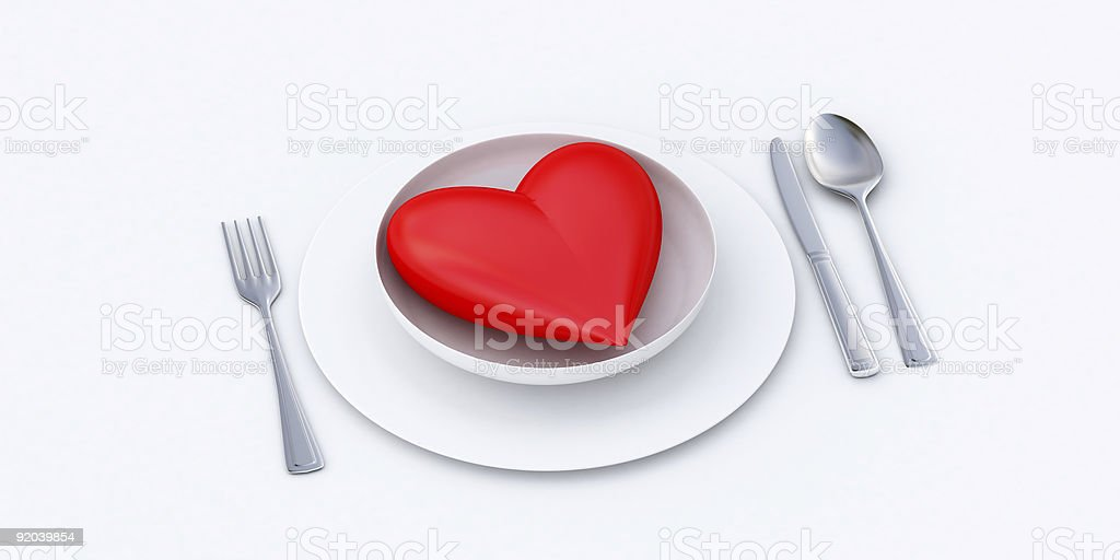 eat your heart out royalty-free stock photo