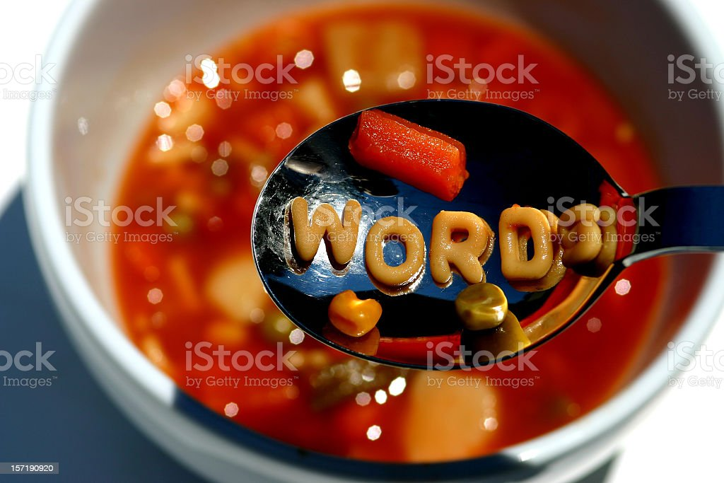 Eat Your Words stock photo