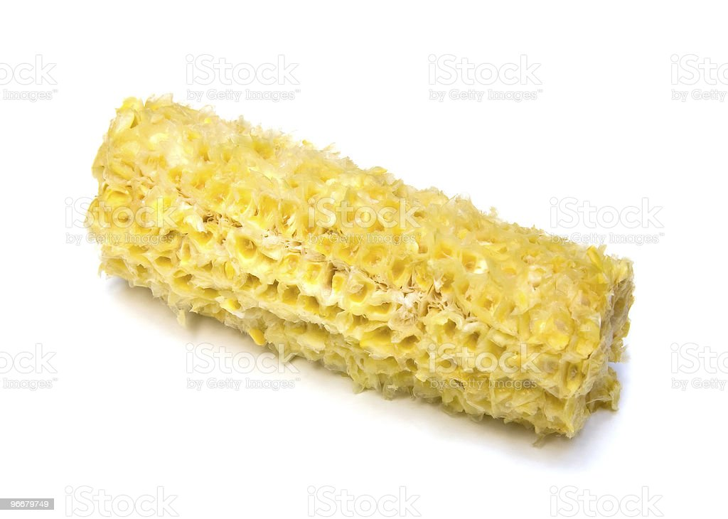 Eaten Corn on the Cob stock photo