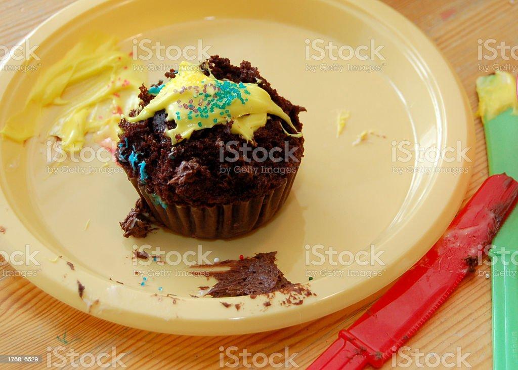 Eaten Cupcake stock photo