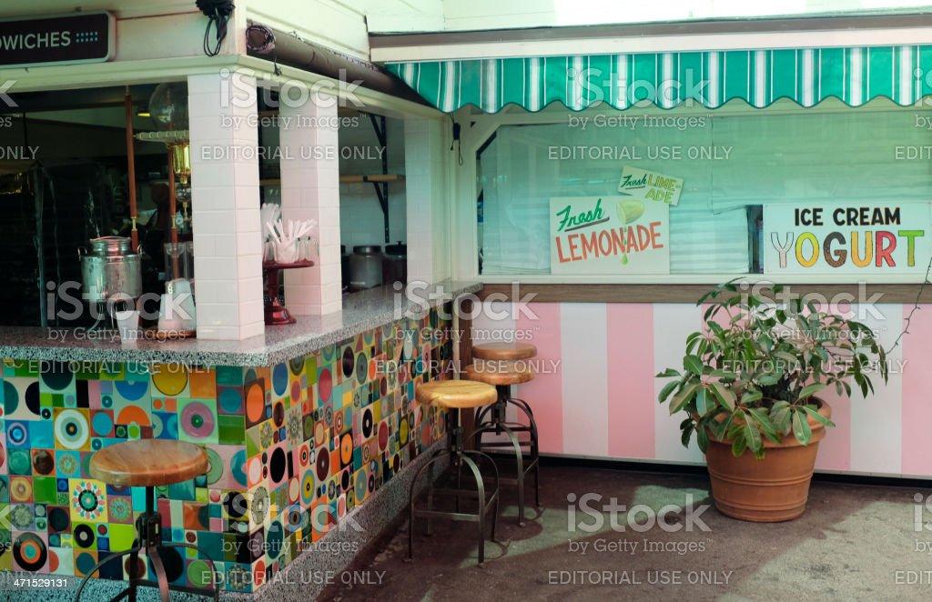 Eatery in LA's Farmer's Market royalty-free stock photo