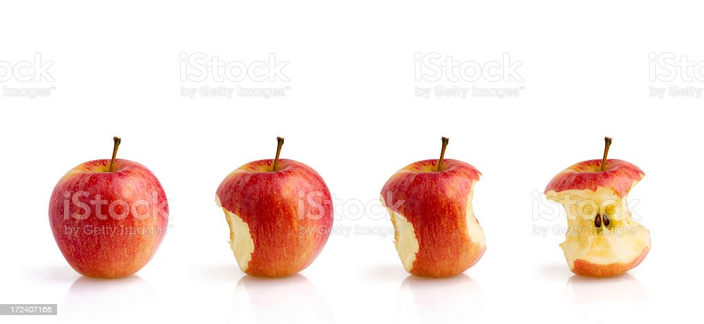 Eating a Red Apple (C.Path) royalty-free stock photo
