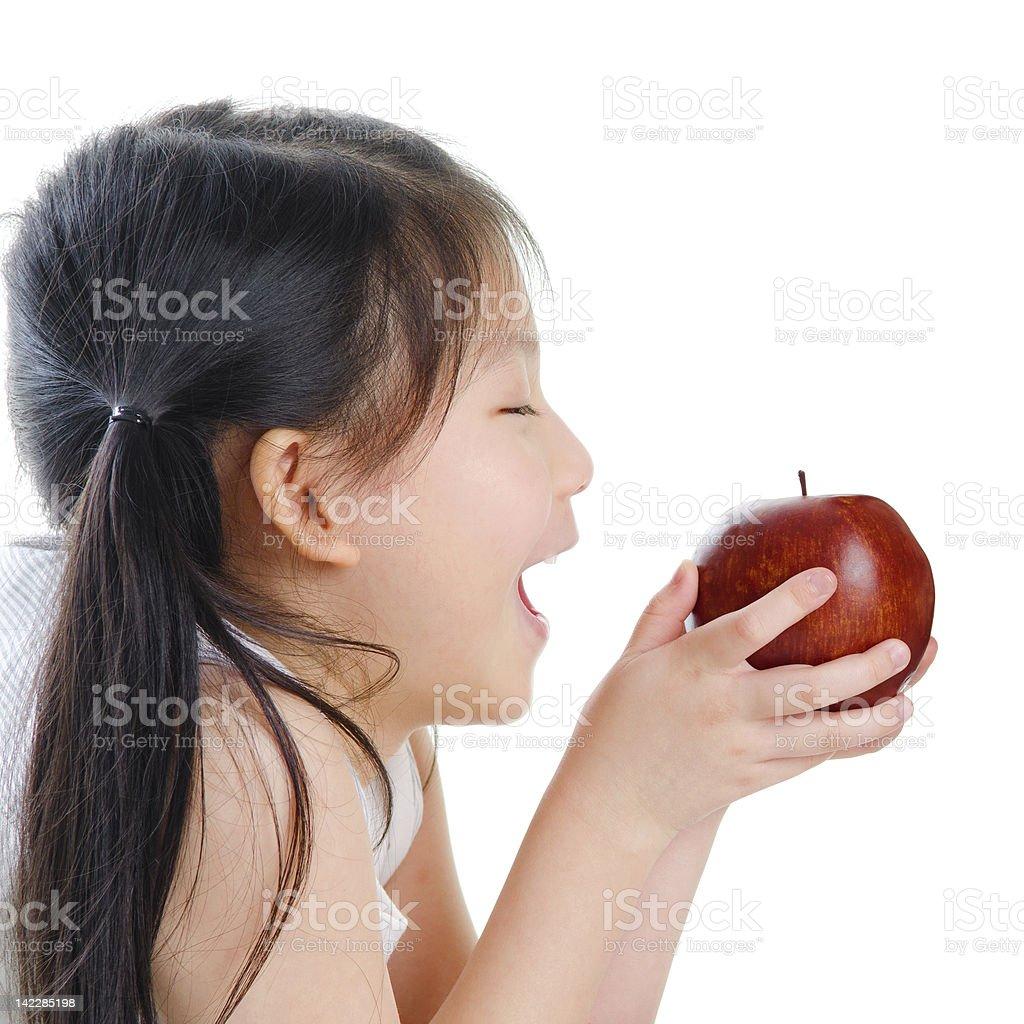 Eating Apple royalty-free stock photo