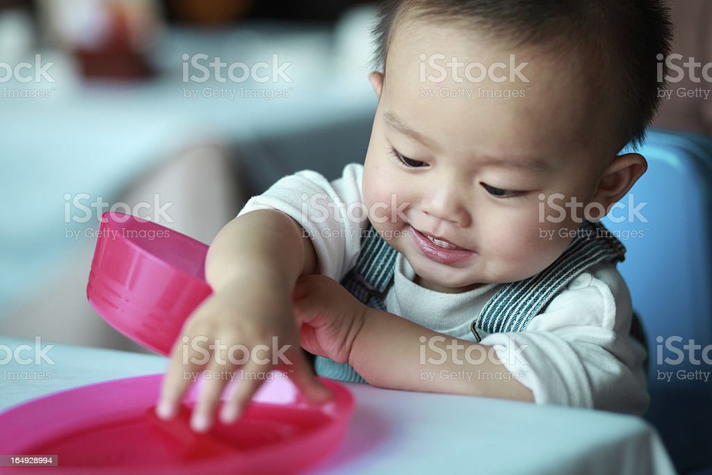 Eating baby boy royalty-free stock photo